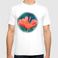 Lonely poppy Mens Fitted Tee White SMALL