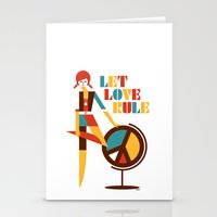 Hippie Chick Stationery Cards
