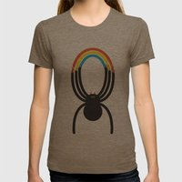 Spiders Are Rainbows Womens Fitted Tee Tri-Coffee SMALL