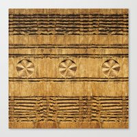 African decoration on wood Canvas Print