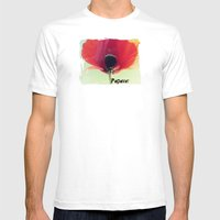 Papaver (Poppy Redux) Mens Fitted Tee White SMALL