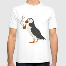 Puffin' Mens Fitted Tee White SMALL