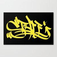 Style yellow marker art Canvas Print