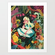 Art Print featuring Alice In Wonderland by Karl James Mountford