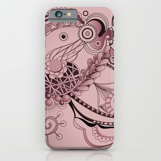 Spring tangle, plum pink iPhone & iPod Case