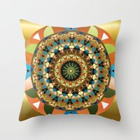 Navajo Mandala Throw Pillow