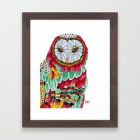 Owl Aura. Candy Colored … Framed Art Print