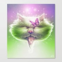 Kitty: The Monarch Canvas Print