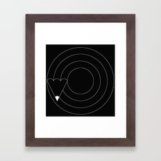 Drawing circles Framed Art Print