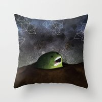 Asomandose Al Espacio Throw Pillow