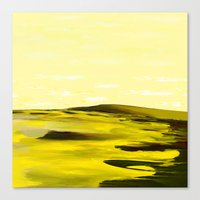 Giraffes Roamed the Sulfur Sands Canvas Print