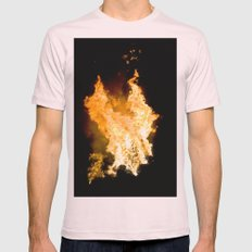 Face in the Flames Mens Fitted Tee Light Pink SMALL