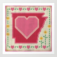 Home Sweet Arkansas Art Print