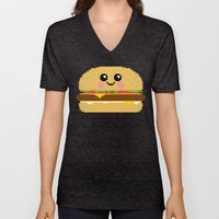 Happy Pixel Hamburger Unisex V-Neck