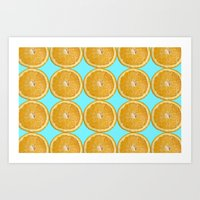 Oranges Fruit Citrus Photo Art Art Print
