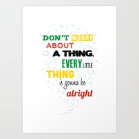 Don't Worry About A Thin… Art Print