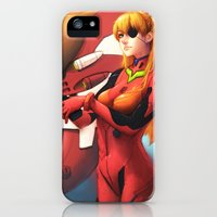 iPhone Cases featuring Asuka Langley by Kit Ho