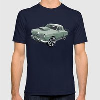 Studebaker in Green Mens Fitted Tee Navy SMALL