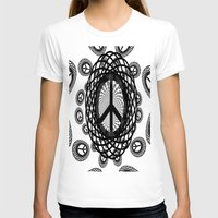 T-shirt featuring peace by Laura Santeler