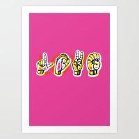 IT'S LOVE Art Print