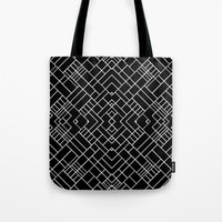 PS Grid 45 Black Tote Bag
