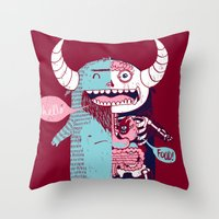 All Monsters are the Same Throw Pillow