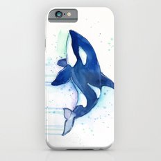 Killer Whale Orca Watercolor Painting Animal Art iPhone 6s Slim Case