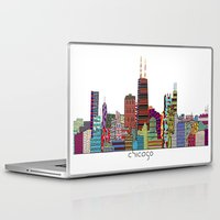 chicago Laptop & iPad Skins featuring Chicago  by bri.buckley