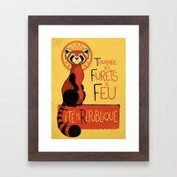Les Furets De Feu Framed Art Print