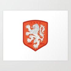Holland 2014 Brasil World Cup Crest Art Print