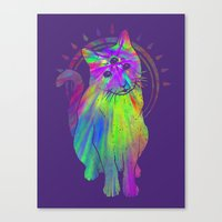 Psychedelic Psychic Cat Canvas Print