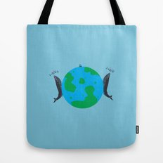 Blue Whales Love Song Tote Bag