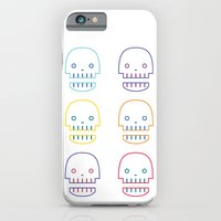 iPhone & iPod Case featuring robo skull by Taylor Jean
