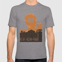 The Walking Dead Prison … Mens Fitted Tee Tri-Grey SMALL
