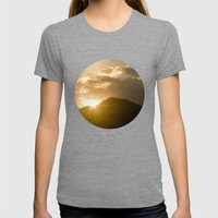 Sundown Womens Fitted Tee Tri-Grey SMALL