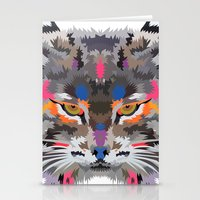Neon Wildcat Stationery Cards