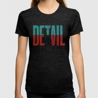 Devil In The Detail. Womens Fitted Tee Tri-Black SMALL