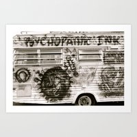Tattoo Parlor.  Art Print