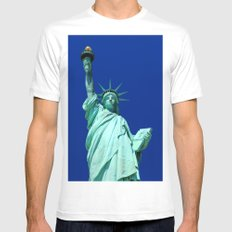 Statue of Liberty, New York, USA. SMALL White Mens Fitted Tee