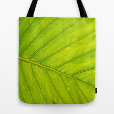 Tropical Leaf Vein Abstract Tote Bag