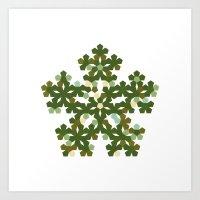 #412 Pentabloom – Geom… Art Print