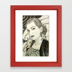 Girl Portrait Framed Art Print