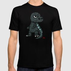 Baby Godzilla Black SMALL Mens Fitted Tee