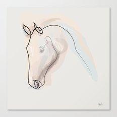 Oneline Horse 70615 Canvas Print