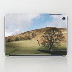 Sunlit tree and hillside. Edale, Derbyshire, UK. iPad Case