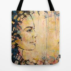 Looking to the Future -beautiful woman Tote Bag