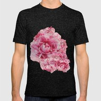 Sweet Peonies Mens Fitted Tee Tri-Black SMALL