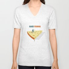 Slice fishing Unisex V-Neck