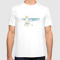 The old boy and the sea Mens Fitted Tee White SMALL