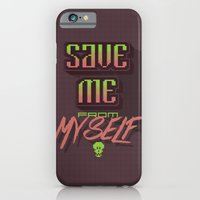 iPhone & iPod Case featuring Save me from myself by Siro Honório